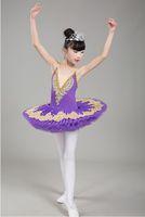 Ballet Nuevo Profesional Tutu Niño lago de los cisnes traje azul blanco rojo del ballet de vestir para niños panqueque tutú de las muchachas Dancewear