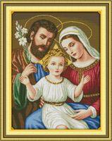 Иисус семья христианский домашний декор живопись, ручной вышивки крестом вышивка рукоделие наборы подсчитано печати на холсте DMC 14CT / 11CT