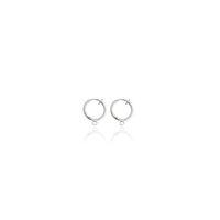 Plated 20PCS prata Non-piercing clipe na Primavera Hoop Brincos 13 milímetros