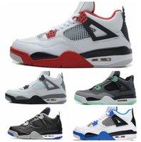 sports shoes caf60 12d33 NIKE Meilleure Qualité 4 4s Hommes Chaussures de Basketball Feu Rouge  Cactus Jack Jeu Royal Motor