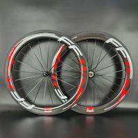 FFWD 700C Ruote in carbonio in carbonio per bici da strada 60mm Profondità 25mm Liderth Cabincher / Tubeless / Tubolare Ruota in carbonio in bicicletta con finitura lucida 3K