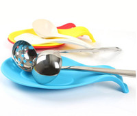 سيليكون مقاوم للحرارة حامل ملعقة الراحة إناء أداة البسط أداة الغذاء الصف خزائن المطبخ الرف أداة 19.5 * 9.5cm و5color YSY265-L