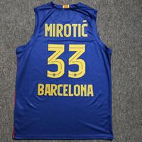 New Nikola Mirootic # 33 Баскетбольная майки Евролига Испания Испания Настройка Любое имя № 4XL 5XL 6xL Джерси