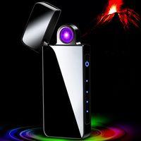 rotierender Lichtbogen arc USB flammenlos cigarette twin Lade windundurchlässiges Metalldoppelfeuerquer flammenlos USB leichtere Plasma A6023040 Lade