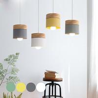 الحديثة أدى قلادة ضوء الثابت مع الخشب الحديد غرفة الطعام مقهى مطعم الاسكندنافية داخلي خشبي معلق مصباح ديكور المنزل - I28