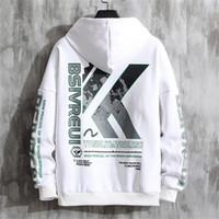 Frühling 2020 neue koreanische Trend Pullover mit Kapuze Mode Stickerei Herren-Langarm-T-Shirt mit Kapuze Pullover Männer Hoodie