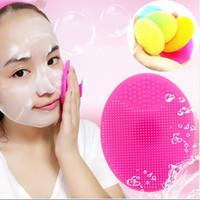 DHL freeshipping силиконовые мыть Pad угрей лицо отшелушивающий очищающие щетки уход за кожей лица очищающая щетка красота макияж инструмент
