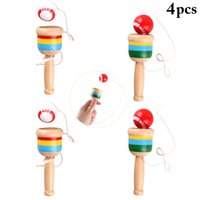 4PCS Cup And Ball Game Coordinazione occhio mano Cup and Ball Toy Catch Ball Toy Kendama Toy Game