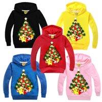 Noël Impression Cadeau Bébé de filles de garçon Sweats à capuche manches longues Casual Vêtements automne Wear pull avec capuche enfants Costumes Vêtements