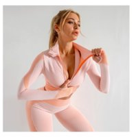 20 femmes de sport de Yoga Ensemble Fitness Gym Vêtements De Course de Tennis Chemise + Pantalon de Yoga Leggings Jogging Workout Sport Costume 20042002W
