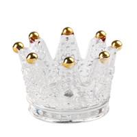 партии декора Свадебных чашек высокого качества ручной работы искусственного кристалл стекло держатель корона свечи Главной украшения ювелирные изделия накопительного кольцо DHL