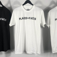 Places + Faces Mens Designer T Shirts PF box logo Hip Hop De...