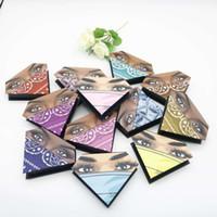 3D Mink Eyelash Package Boxes False Eyelashes Packaging Empty Eyelash Box Case Creative Diamond Shaped Lashes Box Packaging RRA3256