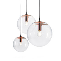 الزجاج قلادة الأنوار الحديثة غلوب الكرة المستديرة Hanglamp بريقا تعليق الإنارة غرفة الطعام إضاءة المطبخ ضوء مصباح