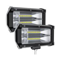 Automobiles LED Car Condução de trabalho luzes LED Bar 72W 6000K Flood spot Combo Luzes Off Road Lamp carro SUV Truck iluminação