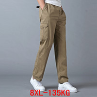 Men' s big slacks plus size 5XL 6XL 7XL 8XL large size e...