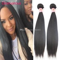 Glamoroso 100% Virgin Human Hair Weaves 2 Unids / lote Color Natural Armadura Brasileña Del Pelo Bundles Wholesale Recta Cabello Humano para las mujeres negras