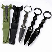 Bıçak ücretsiz kargo kamp taktik sabit bıçak avcılık için CNC Benchmade 176 bıçak ABS kılıf D2 çelik çakı EDC aracı