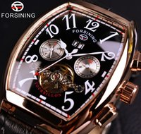 Forsining Date Month Display Rose Gold Case Mens Watches Fas...