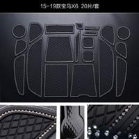 게이트 슬롯 패드 인테리어 PVC 고무 문 패드 / 컵 매트를 들어 BMW의 X6 2015에서 2019 사이 미끄럼 방지 매트 16pcs
