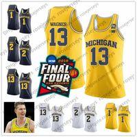Michigan Wolverines # 13 Ignas Brazdeikis Wagner 1 Charles Matthews 2 Poole Moritz Zavier Simpson Livers Teske Final Fur Four Basketball Jerseys