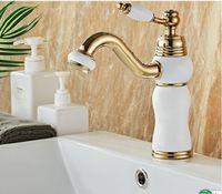 2020 europäischer Wasserhahn Becken heiß und kalt Kupfer Bad Wasserhahn unter den Becken Badezimmerschrank retro Waschbecken Wasserhahn Waschbecken 008