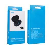 مصغرة TWS E6S بلوتوث 5.0 سماعات ستيريو للحصول على الروبوت الأجهزة اللاسلكية في الأذن الرياضة سماعات الأذن مع LED الرقمية اتهام صندوق