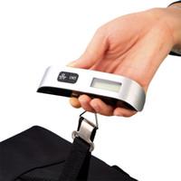 الفضة المحمولة شنقا مقياس مع ربط حزام الالكترونية الأمتعة الرقمية وزنها مقياس جديد حار بيع