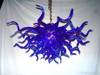 La CA libre llevó bulbos 110v / 240v Villa ligera barata azul moderna de soplado a mano del arte lámpara de cristal