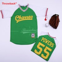 db3b07591ad Cheap Mens Kenny Powers Eastbound and Down Mexican Charros Baseball Jersey  Green White Black Stitched jersey