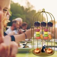 3-الطبقة كعكة الحلوى الوقوف حامل الكب كيك حزب تخدم طبق Wrough الحديد الحلوى الجدول الديكور # guahao