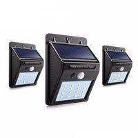 Energia solare LED solare luce della lampada LED per esterni parete solare con PIR sensore di movimento di sicurezza Notte Lampadina Via Yard percorso Lampada da giardino