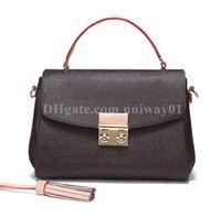 Borsa donna Tote della borsa del numero di serie in pelle borsetta borsa il codice della data di moda