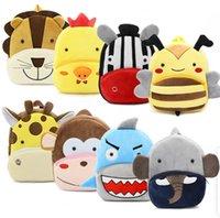 30style Kids Stuffed Plush Backpack Toddler Cartoon Animal Backpacks Kindergarten Schoolbag Baby Unicorn Tiger Storage Bags GGA3527