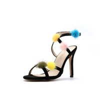 Hot Sale- Mink Fur Women' s Summer Shoes Fashion Narrow B...