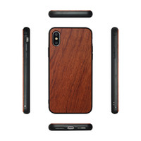 Atacado Hot Design Rodada borda MADEIRA + TPU Telefone Caso Para Iphone X / XS / XR / XS MAX Natural De Madeira De Bambu capa para iphone 7 8 plus 6 6 s livre dhl