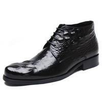 chaussures crocodile bottes en cuir hommes bottes cheville chaussures hommes bottes habillées formels pour les hommes zapatos de hombre de Vestir formelle Botas hombre cuero