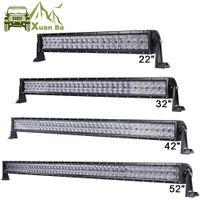 Xuanba 22 '' 32 '' 42 52 pollici LED Light Bar per 4x4 Off Road Truck Tractor SUV ATV 4WD 12V 24 V Combo Beam Driving Lampade da lavoro dritto / curvo