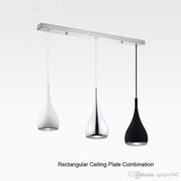 Fasion النمط الأمريكي قلادة مصباح المطبخ Dia16cm * H120cm المطبخ قلادة ضوء الألومنيوم / كروم 110-240 فولت ثلاثة ألوان الطعام ضوء