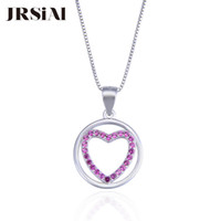 JRSIAL Hollow Heart Shape 925 Sterling Silver Fine Jewelry Zircon Pendant for Woman Jewelry Necklace Pendant Fashion Party Gift