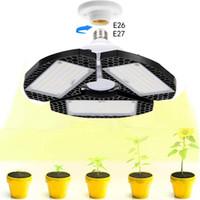 LED Full Spectrum cresce a luz E27 E26 Crescimento 50W alta Bay Garage Lamp for Plant estufa hidropónica Indoor