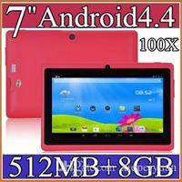 """7-Zoll-Android4.4 Google 3000mAh-Batterie-Tablet-PC Wifi Quad-Kern 1.5GHz 512MB 8 GB Q88 Allwinner A33 7 """"Dual-Kamera 2-7PB"""