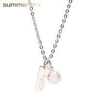 Aço inoxidável de alta qualidade fé sonho pingente de colar para mulheres charme inspirado neckalce presente da jóia da forma com cartões de presente