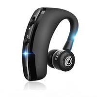 جديد V9 يدوي اللاسلكية سماعات بلوتوث التحكم الضوضاء الأعمال سماعة بلوتوث لاسلكية مع مايكروفون لسائق الرياضة