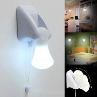 3LED 풀 문자열 스마트 침대 옆 내각 화이트 나이트 조명 램프 휴대용과 쉬운 침대 옆 주도 전구를 설치하는 방법