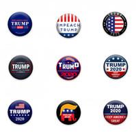 Trump брошь Американских США Выборы Пластиковой Круглые штыри Мода украшение Trump 2020 Keep America Great брошь LJJO7652