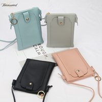 New Women Pu Leather Shoulder Bag Mini Mobile Phone Bag Card...