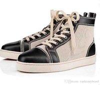 Red sneakers inferiores Femininos Super presente cinzenta / sapatos de couro preto Canvas patim Sneakers, Luxo menwear partes superiores altas sapatos de amarrar formadores