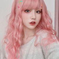 Парик женский светло-розовый волнистые Тедди лапша быстрого приготовления рулон длинные вьющиеся волосы капюшон дышащий живые дамы сырье поддельные волосы оптом