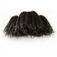 Capelli di capelli afro afro stile cortocircuito 8-18 pollici indiano Virgin Virgin Human Hair10pcs 1000G / lot Factory fornisce grandi scorte